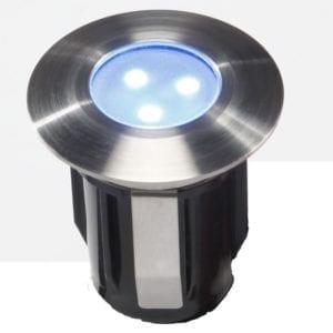 Oprawa do zabudowy ALPHA niebieski LED najazdowa/podwodna