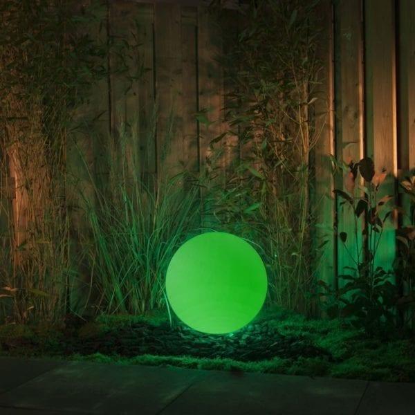 Lampa stojąca ogrodowa ROUND 50 kula RGB 4W + pilot